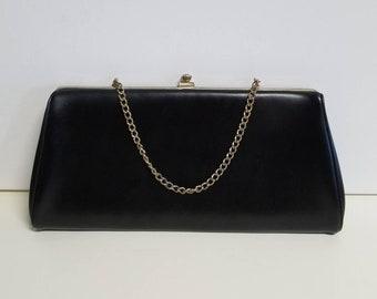 Little black classic clutch