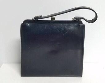 Midcentury black frame handbag