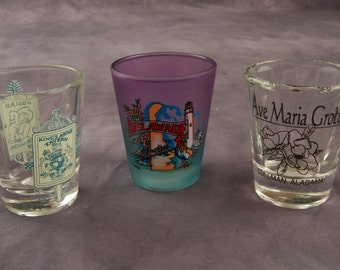 Lot of Three Souvenir Shot Glasses