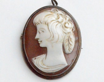 Antique Hand-carved Shell Cameo