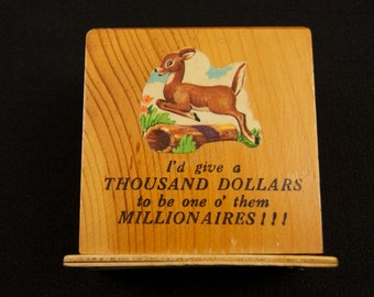Vintage Souvenir Bank from Barrington MA
