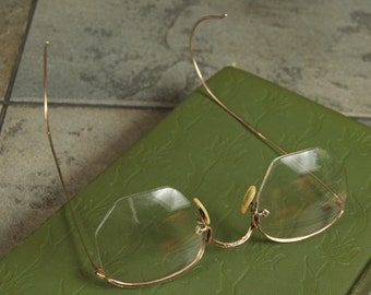 Antique Gold Filled Spectacles with Original Case