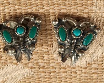 Vintage Butterfly Clip Earrings