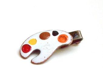 Enamel Palette Tie Clip