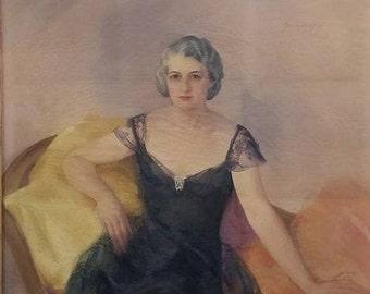 Gardner Soper Midcentury Oil Portrait