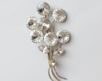Spinel Floral Spray Pin