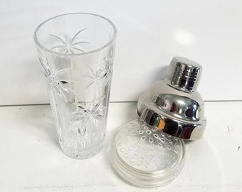 Molded Glass Palm Tree Cocktail Shaker