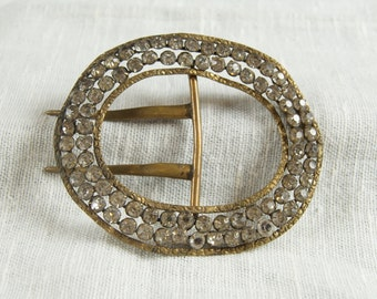SALE WAS 60 Vintage Crystal Belt Buckle sam