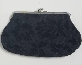Brocade vintage cosmetic clutch bag