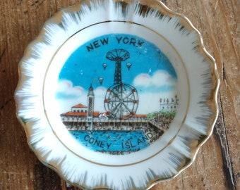 Souvenir Mini New York Coney Island Plate (19G)