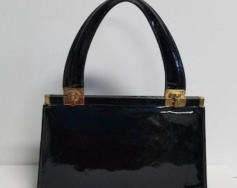 Jane Stilton Shiny Leather top handle Handbag
