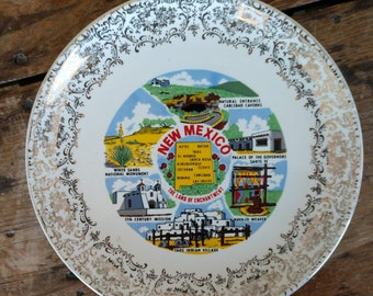 Commemorative State of New Mexico Plate (19C)