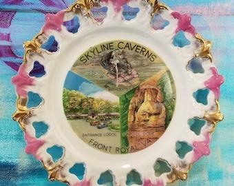 Skyline Caverns souvenir plate