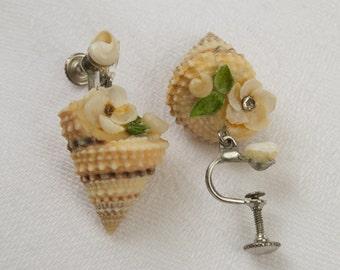 Fun Vintage Shell Earrings