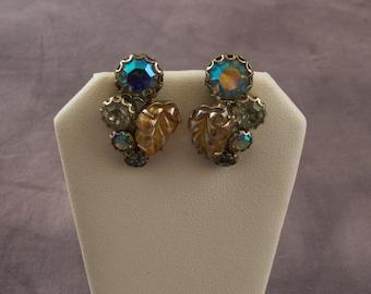 SALE WAS 30 Vintage Weiss Clip Earrings