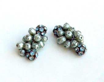 Bubbly Baroque style pearl Clip on Earrings