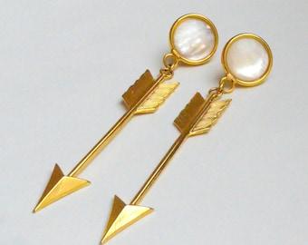 Golden Arrow post Earrings