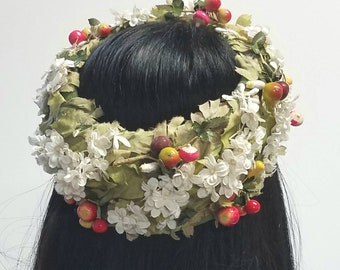 Floral and Fruit midcentury ring hat