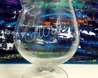 """Lovely Glass """"ours"""" Decanter"""