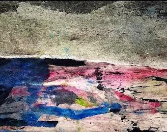 Foggy Morn mixed media art by Theresa Wells Stifel