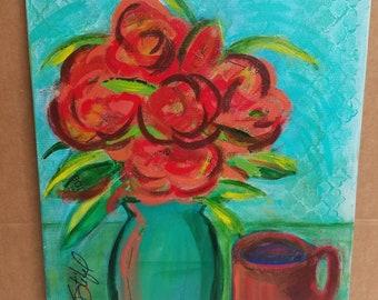 Red rose still life
