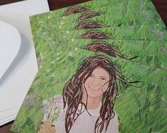 Amanda - package of 6 greeting cards by Theresa Wells Stifel