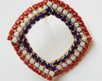 Red White & Blue brooch