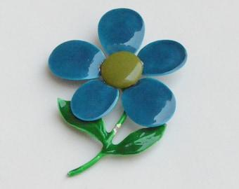 Big Blue Flower Pin