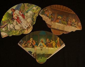 Vintage Funeral Fan Advertisement Lot of 3