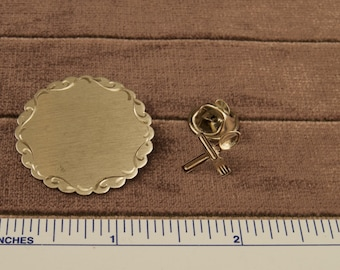 Lot of Two Pins Brooches One Sterling
