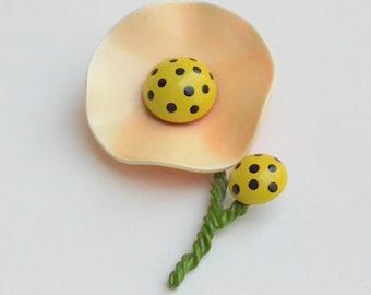 Enamel Poppy Pin