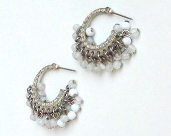 Gray and White Cha-Cha post earrings