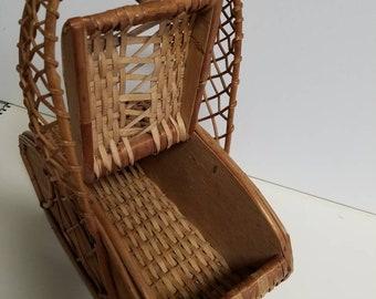 Vintage picnic basket purse