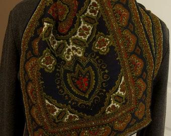 Beautiful Vintage Chiffon Paisley Scarf
