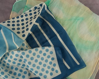 Lot of Two Vintage Scarves