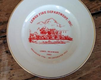 Commemorative Lewes Delaware Fire Department Plate (19C)