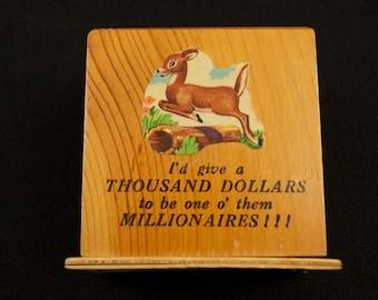 Vintage Souvenir Bank from Barrington MA