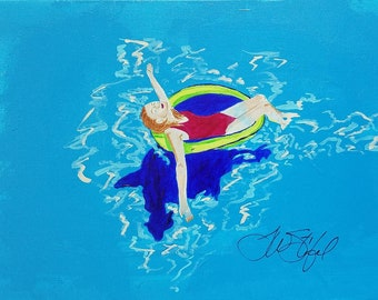 Colleen Afloat art by Theresa Wells Stifel
