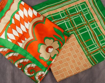 Pair of Groovy Red and Green Scarves
