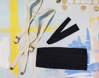 Vintage tuxedo accessories set - size medium