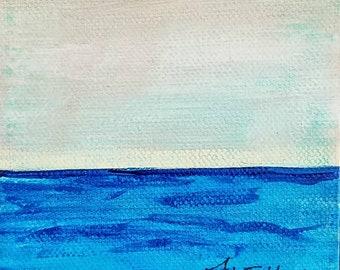 Calm Seas mini painting by Theresa Wells Stifel