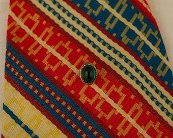 Vintage Green Stone Tie Tack