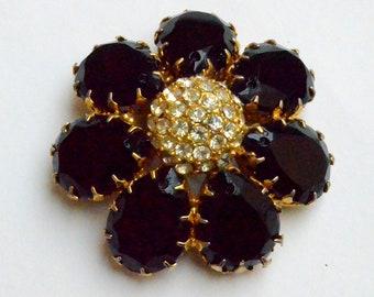Big Black Flower Brooch