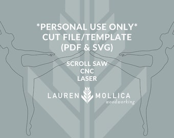 PERSONAL USE ONLY Digital Cut File Template Scroll Saw Pattern Ballerina Dancer Graphic Clip Art Image File