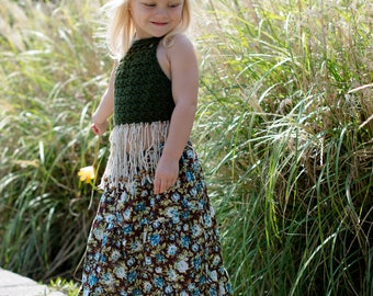 Girl's Maxi skirt - Little girls maxi skirt - Maxi skirt -Toddler Maxi skirt - Girls long skirt - Summer skirt - Spring - Bohemian skirt
