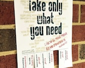 graphic about Take What You Need Printable named Products and solutions related in direction of Get What On your own Want - Printable Tear Off