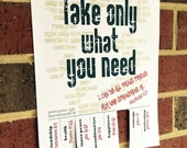 photograph regarding Take What You Need Printable identify Products equivalent in the direction of Just take What By yourself Require - Printable Tear Off
