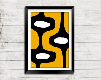 Abstract Atomic Pop Art Colorful Fun Mid Century Modern Print Collection - Small and Large Sizes in 20 Colors To Choose From