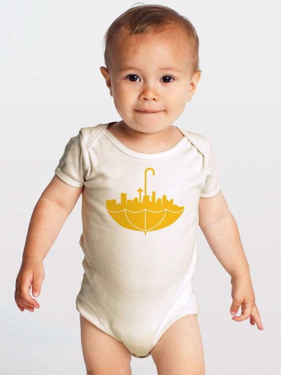 Umbrella Seattle Organic Cotton Baby One Piece