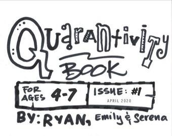 Quarantivity book #1 (Activity book for kids ages 4-7) - Fundraiser